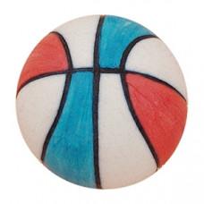 Meubelknop basketbal rood wit blauw
