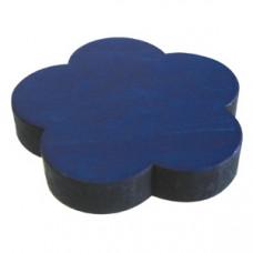 Meubelknop bloem gelakt hout - blauw
