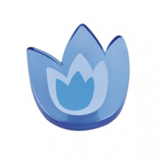Meubelknop acrylaat tulp groot blauw