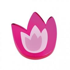 Meubelknop acrylaat tulp groot magenta (roze/lila)