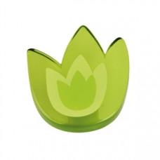 Meubelknop acrylaat tulp groot groen