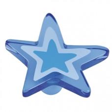 Kastknop ster groot blauw - meubelknop kinderkamer