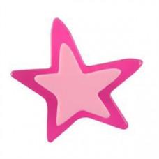 Meubelknop acrylaat ster klein magenta (roze/lila)