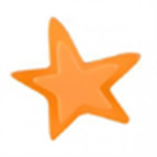 Meubelknop acrylaat ster klein oranje