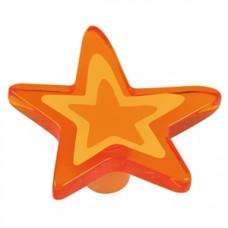 Kastknop ster groot oranje - meubelknop kinderkamer