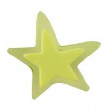 Meubelknop acrylaat ster klein groen