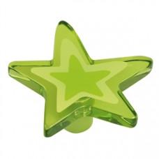 Kastknop ster groot groen - meubelknop kinderkamer