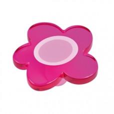 Kastknop bloem groot magenta (roze/lila) - meubelknop kinderkamer