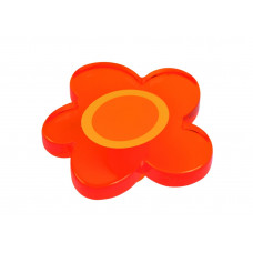 Kastknop bloem groot oranje - meubelknop kinderkamer