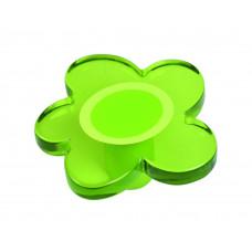 Kastknop bloem groot groen - meubelknop kinderkamer
