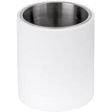 PIET BOON PB102 tandenborstelhouder vrijstaand mat roestvast staal AISI 316/wit Corian®