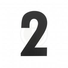 Huisnummer 2 XL zwart - huiscijfer 300 mm hoogte