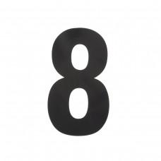 Huiscijfer 8 XL zwart - huiscijfer 300 mm hoogte