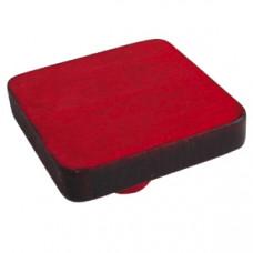 Meubelknop vierkant gelakt hout rood kinderkamer