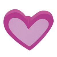 Meubelknop hartje in diverse kleuren
