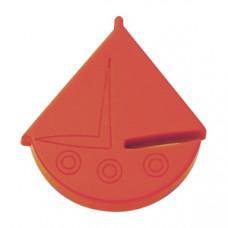 Meubelknop zeilboot rood kinderkamer kastknop leverbaar in 4 kleuren