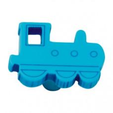 Meubelknop trein blauw kinderkamer kastknop leverbaar in 4 kleuren