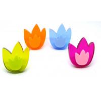 Meubelknop tulp klein - diverse kleuren
