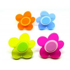 Meubelknop bloem in diverse kleuren kunststof