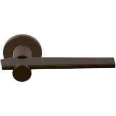 TENSE BB100-G massieve deurkruk geveerd op ronde rozet brons