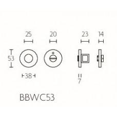 TENSE BBWC53 toiletgarnituur inclusief 5/6/7/8 toiletstift brons