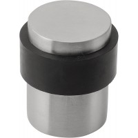 Basics deurbuffer - vloermontage - mat RVS