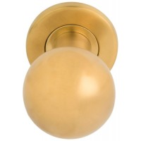 Basics voordeurknop PVD mat goud - LB501