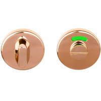 Basics toiletgarnituur ronde rozet PVD glans koper