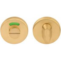 Basics toiletgarnituur ronde rozet PVD mat goud