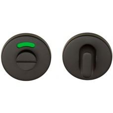 Basics toiletgarnituur ronde rozet PVD gunmetal
