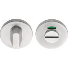 Basics toiletgarnituur ronde rozet mat RVS