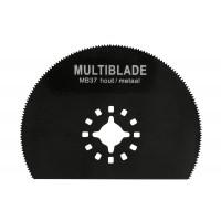 Multiblade zaagblad halve maan - voor hout - metaal tot 2mm - koper - aluminium - spijkers - pvc - kunststof