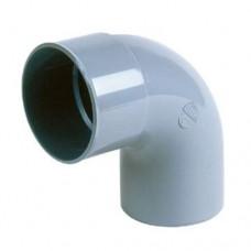 PVC lijmbocht 90° 125 mm, mof - spie
