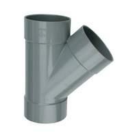 PVC spruitstuk - T-stuk 45° 32 mm, mof - mof - mof