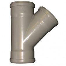 PVC spruitstuk overschuif - Y-stuk 45° 125 mm, 3 X manchet