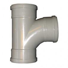 PVC overschuif T-stuk 90 graden 110 mm
