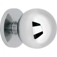 Meubelknop kogel glans nikkel - 15 mm