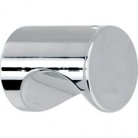 Meubelknop cilinder glans nikkel - 12 mm