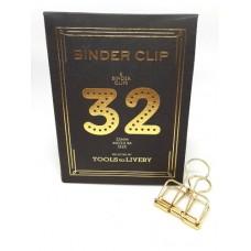 Binder clip 32 goudkleurig- Tools to Liveby