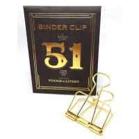 Binder clip 51 goudkleurig- Tools to Liveby