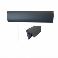 Kunststof binnen brievenbus tochtborstel mat zwart