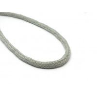Katoen koord 6 mm grijs
