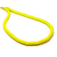 Katoen koord 6 mm groen geel