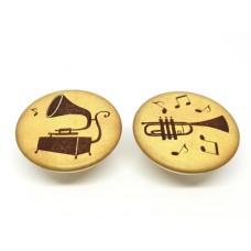 Meubelknop muziek, grammofoon of trompet