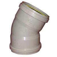 PVC overschuif bocht 45° 110 mm, mof - mof