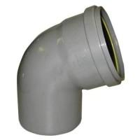 PVC overschuif bocht 45° 110 mm, mof - spie