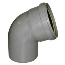PVC overschuif bocht 45° 125 mm, mof - spie