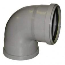 PVC overschuif bocht 90° 110 mm, mof - mof