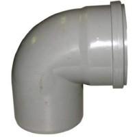 PVC overschuif bocht 90° 110 mm, mof - spie
