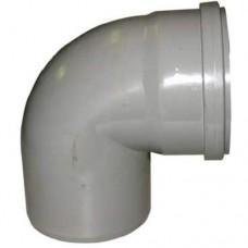 PVC overschuif bocht 90° 125 mm, mof - spie